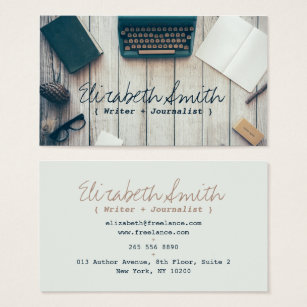Freelance business cards templates zazzle writer author cool vintage typewriter professional business card wajeb Images