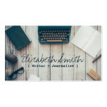 Writer author cool vintage typewriter professional Double-Sided standard business cards (Pack of 100)