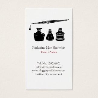Writer Author Elegant Professional Minimalist Business Card