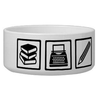 Writer author equipment dog bowls