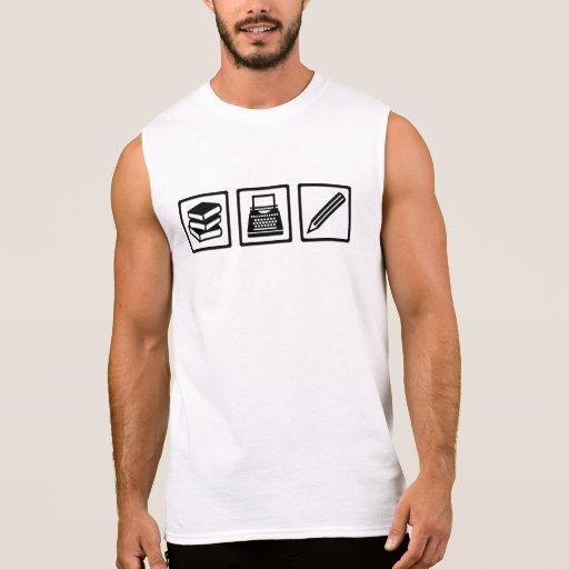 Writer author equipment sleeveless t-shirts Tank Tops, Tanktops Shirts
