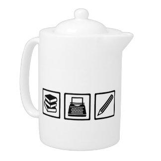 Writer author equipment teapot