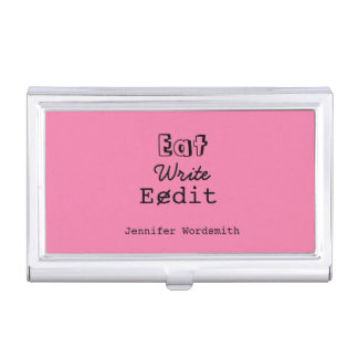 Writer Author Journalist Funny Personalized Case Business Card Holders