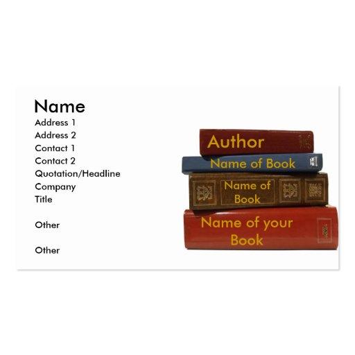 Writer author novelist book business card zazzle for Author business card