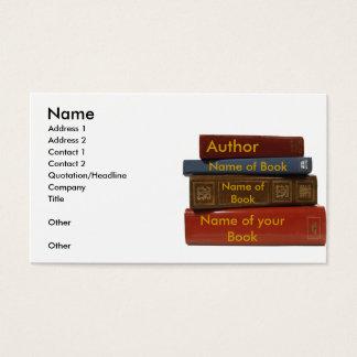 Writer Author Novelist Book Business Card