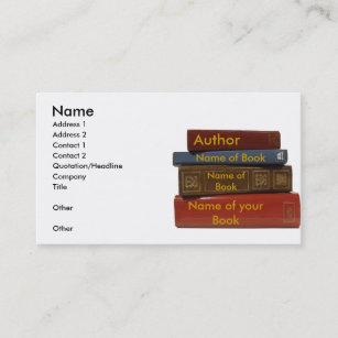 Book business cards zazzle writer author novelist book business card colourmoves