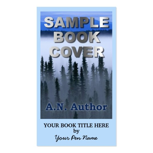 Writer Author Promotion Big Book Cover Business Cards