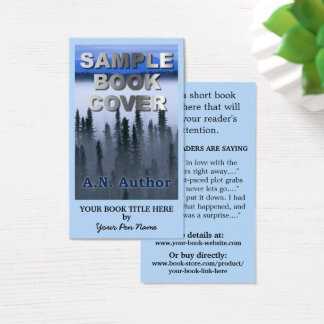 Writer Author Promotion Big Book Cover Business Card