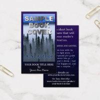 Author business cards templates zazzle author business cards writer author promotion big book cover dark blue colourmoves