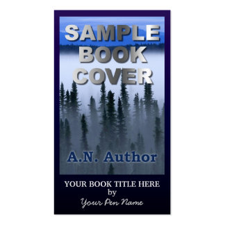 Writer Author Promotion Big Book Cover Dark Blue Double-Sided Standard Business Cards (Pack Of 100)