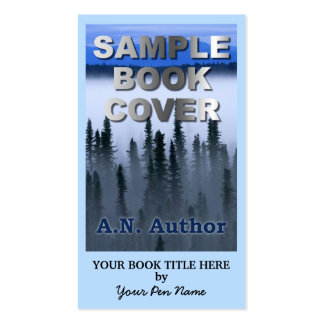 Writer Author Promotion Big Book Cover Double-Sided Standard Business Cards (Pack Of 100)