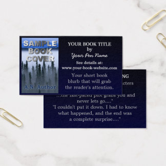 Writer Author Promotion Book Blue Gradient Business Card
