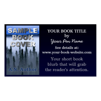 Writer Author Promotion Book Blue Gradient Double-Sided Standard Business Cards (Pack Of 100)