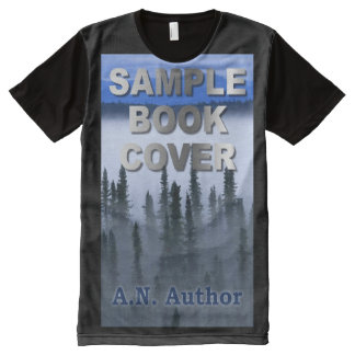 Writer / Author Promotion: Book Cover Advertising All-Over Print T-shirt