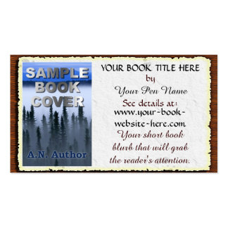 Writer / Author Promotion Book Cover: Aged Paper Double-Sided Standard Business Cards (Pack Of 100)