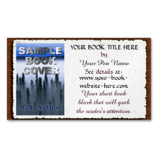Writer / Author Promotion Book Cover: Aged Paper Magnetic Business Cards (Pack Of 25)