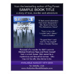 Writer Author Promotion Book Cover Blue Purple Flyers