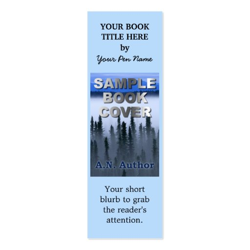 Writer Author Promotion Book Cover Bookmark Business Card Templates