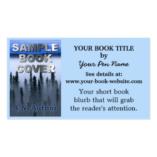 Writer Author Promotion Book Cover Double-Sided Standard Business Cards (Pack Of 100)