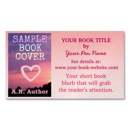 Writer author promotion book cover pink ombre business card magnet writer author promotion book cover pink ombre business card magnet reheart Image collections