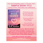 Writer Author Promotion Book Cover Pink White Flyers