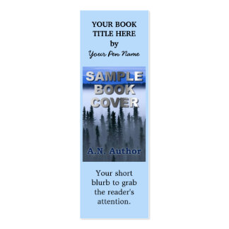 Writer Author Promotion Book Cover Small Bookmark Double-Sided Mini Business Cards (Pack Of 20)