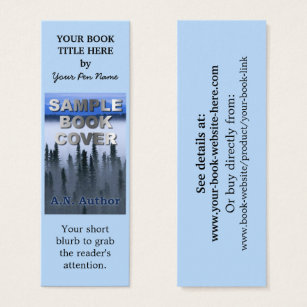 Bookmark business cards templates zazzle writer author promotion book cover small bookmark mini business card colourmoves