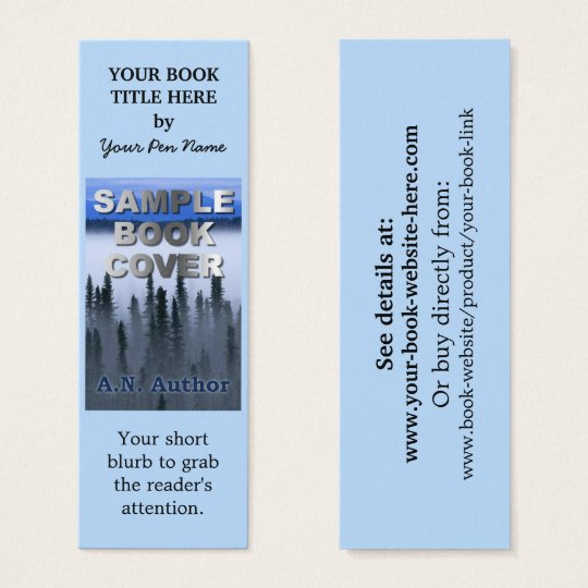 Bookmark business cards templates zazzle writer author promotion book cover small bookmark mini business card reheart Choice Image