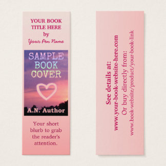 Writer Author Promotion Book Cover Small Pink Mini Business Card