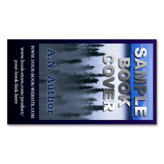 Writer Author Promotion Book Cover Website Blue Magnetic Business Cards (Pack Of 25)