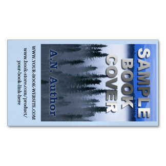 Writer Author Promotion Book Cover with Website Magnetic Business Cards (Pack Of 25)