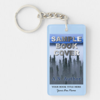 Writer Author Promotion Marketing Book Cover Keychain