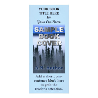 Writer Author Promotion Marketing Book Cover Rack Card