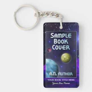 Writer Author Promotion Space Science-Fiction Keychain