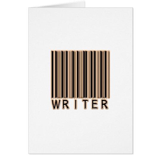 Writer Barcode Card