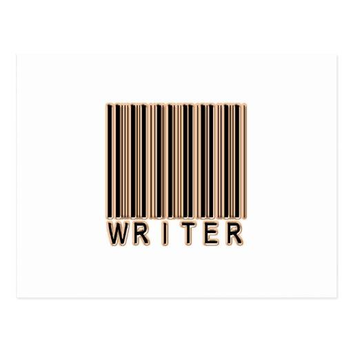 Writer Barcode Postcard