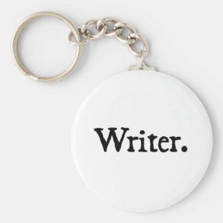Writer. Basic Round Button Keychain