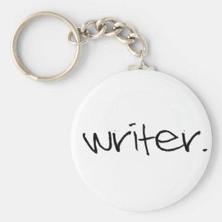 Writer Basic Round Button Keychain