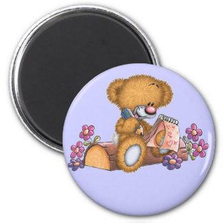 Writer Bear Fridge Magnet