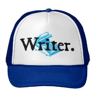 Writer black lettering trucker hat