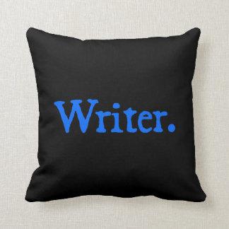 Writer: Blue Text Throw Pillow