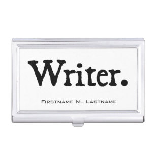 Writers business card holders cases zazzle writer business card holder colourmoves