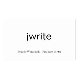 Writer Business Cards Funny iwrite Customizable