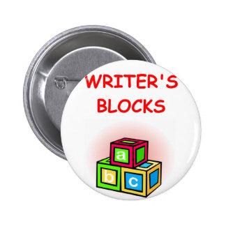 writer pinback buttons