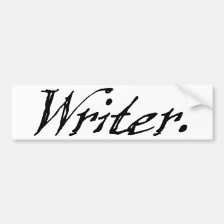 Writer Car Bumper Sticker