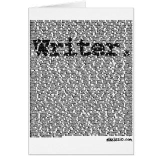 """""""Writer."""" Card"""