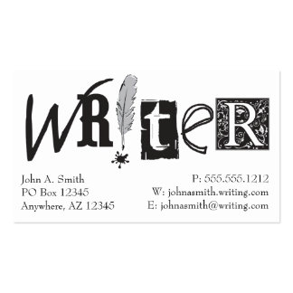 Writer Cards Double-Sided Standard Business Cards (Pack Of 100)