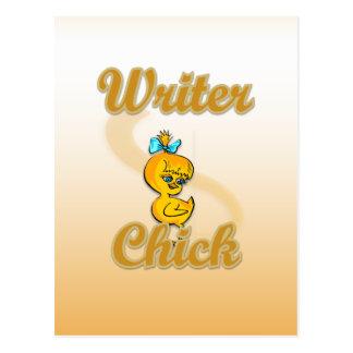 Writer Chick Postcard