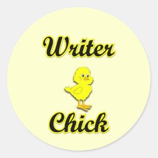 Writer Chick Sticker