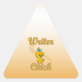 Writer Chick Triangle Sticker